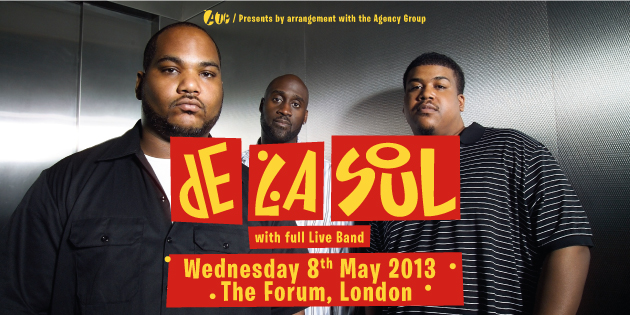 EVENT: De La Soul at London&#8217;s Forum MAY 8