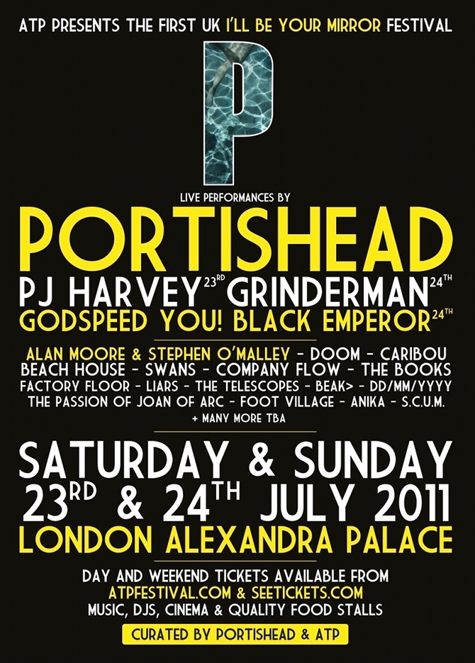 London I'll Be Your Mirror festival 2011 Lineup Announced & Tickets Info
