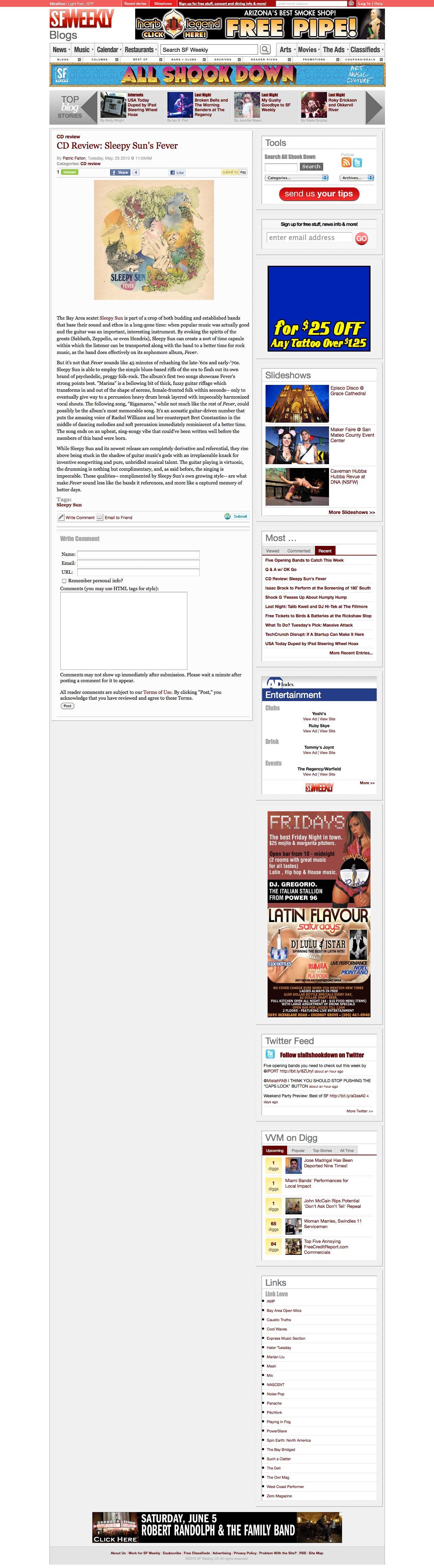 ATP Recordings: Sleepy Sun Press Directory